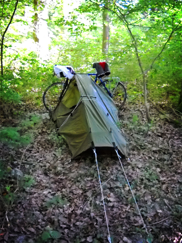 Wild c&ing in a French woodland & 900 Miles With a Homemade Tent | AnotherCyclist.blog